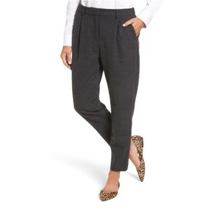 {Halogen} Heather Gray Relaxed Ankle Pants Size S